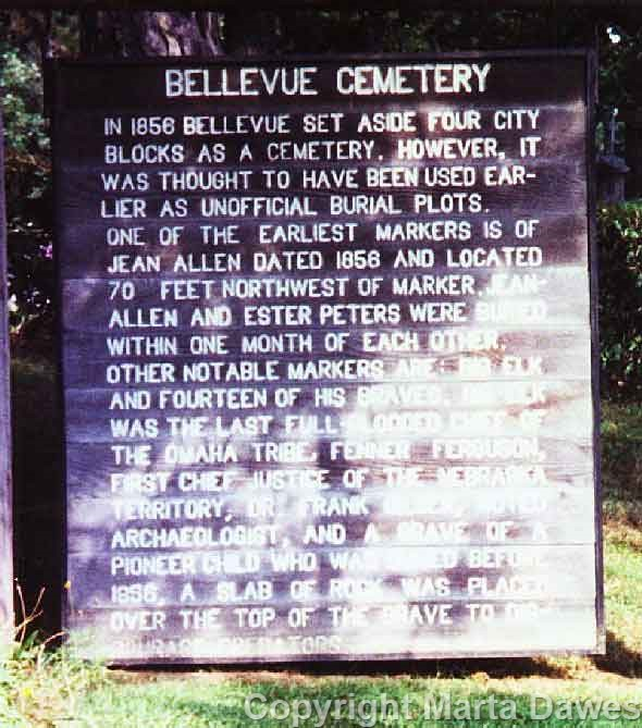 Bellevue Cemetery Entrance Marker